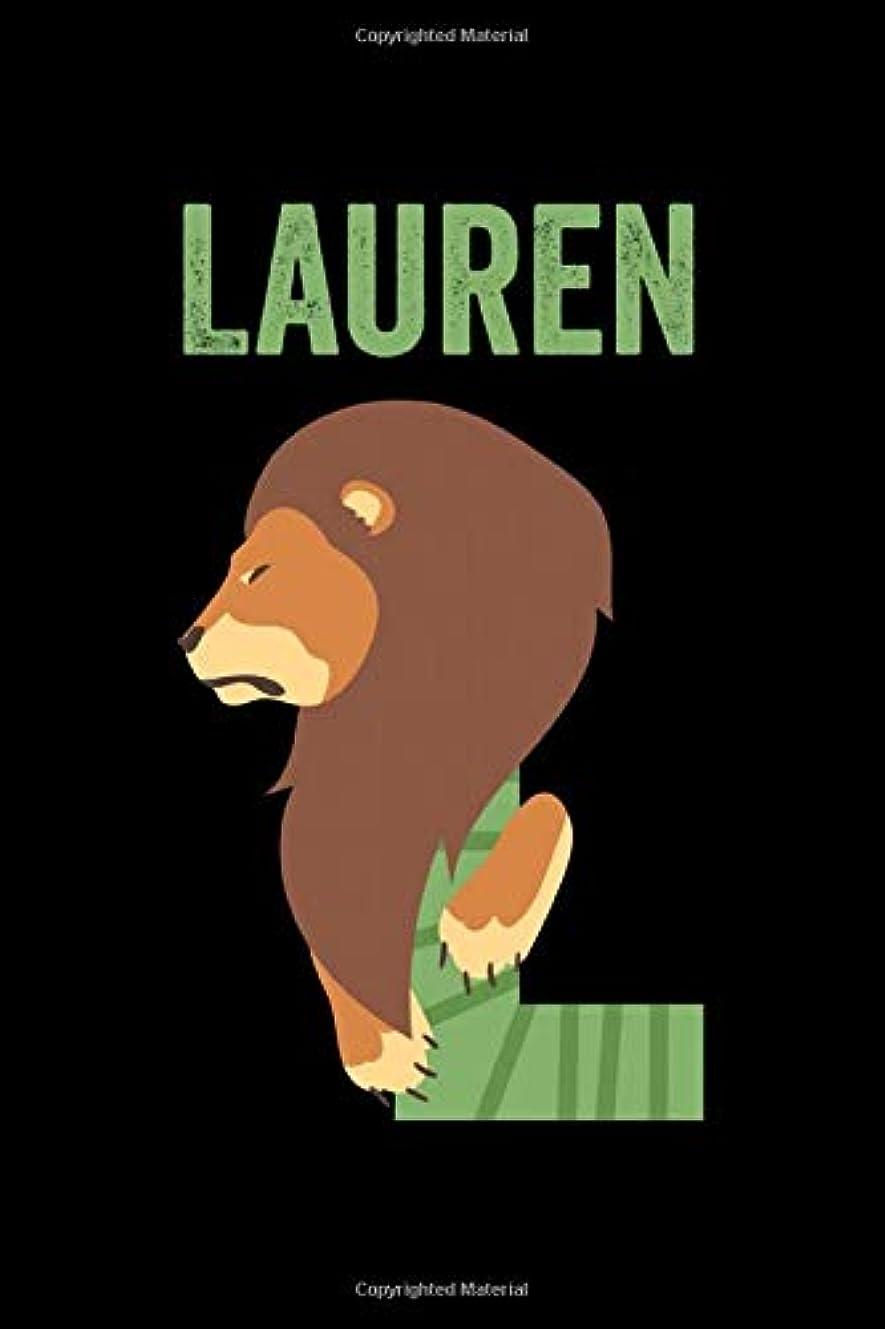 印象派スリッパオーストラリア人Lauren: Journal (Diary, Notebook) Personalized Custom Name Alphabet Lion Birthday Gift for Girls