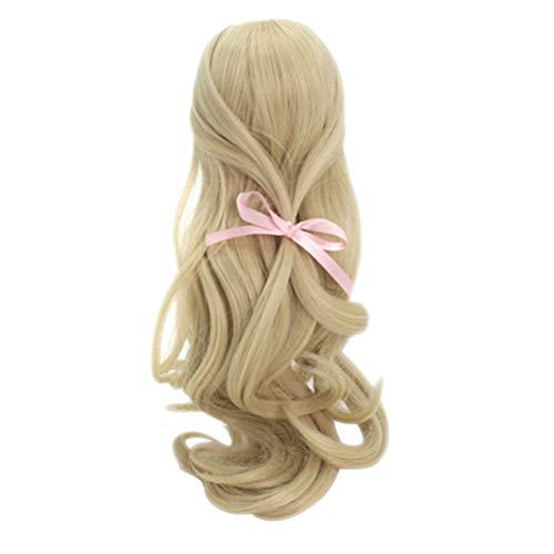 Supvox 1/3 BJD Perücke Puppe Haar Hellgolden - 22-24cm SD Puppe Perücken Langes lockiges Haar für Mädchen Loli Perücke Dekoration