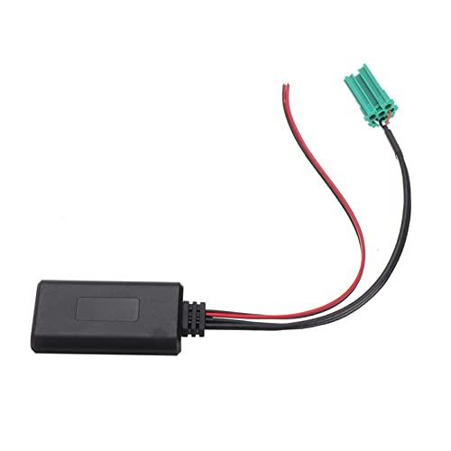 MEILIJIE XIAOXU MIN Módulo Compatible con Bluetooth del Coche 12V Auxiliar Adaptador de Radio inalámbrico estéreo Auxiliar Cable Fit para Renault Fit para Clio Fit para Kangoo Fit para Megane