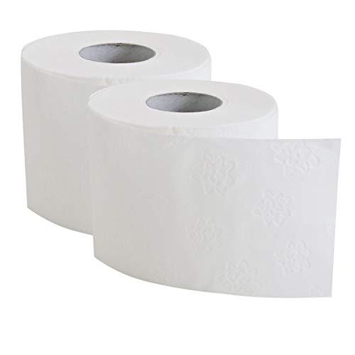 72 Rollen Toilettenpapier 3-lagig Premium-, WC-Papier, Klopapier, Hygiene-Papier, Kleinrollen mit je 250 Blatt Zellstoff, Größe:Palette