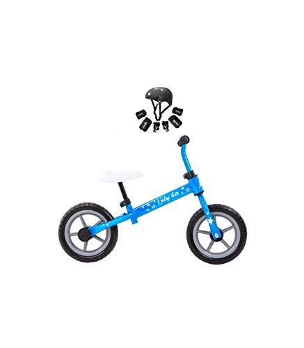 Grupo K-2 Riscko - Bicicleta sin Pedales con sillín Y Manillar Regulables | Ultraligera | Correpasillos Minibike | Bicicleta para Niños de 2 a 5 años Baby Star Azul