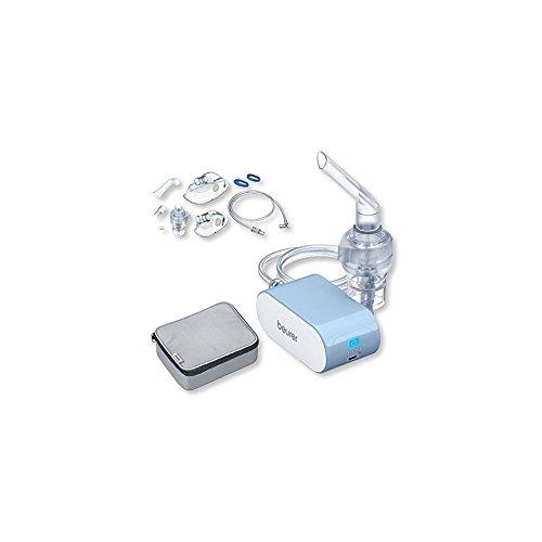 Beurer IH 60 Inhalator, Akku-Betrieb + Yearpack Zubehör zum Inhalator, mit DC-Kompressor-Druckluft-Technologie
