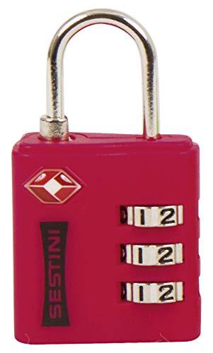 Cadeado para Bagagem TSA c/ Combinacao, GreenBelt, Adulto Unissex, Vermelho