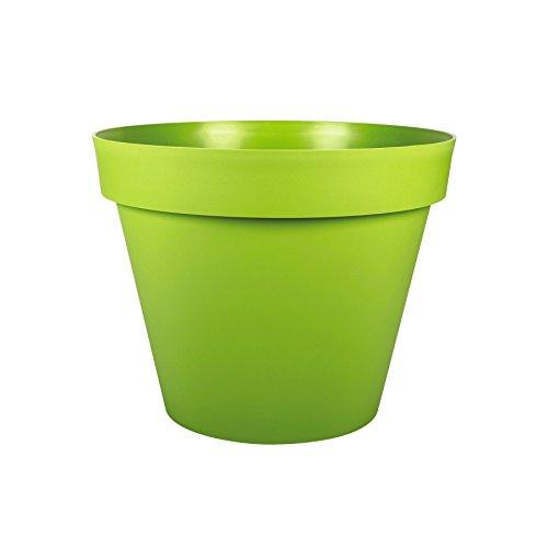 EDA Plastiques - Pot de fleur - Pot de fleur Toscane POP Ø30x26cm rond 10L - Vert matcha
