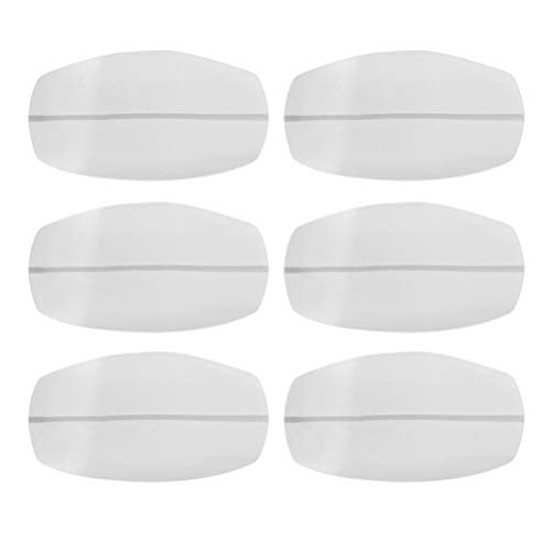 Supvox Bra Strap Cushions Shoulder Pain Relief Protectors Pads Silicone Non Slip Decompression Pads for Lady Girl Women 6pcs White