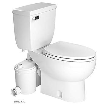 Saniflo Sanibest Pro  Macerating Upflush Toilet Kit  with Elongated Bowl