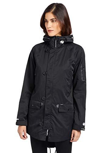 khujo Damen Jacke ALISEA leicht Parka-Style Lange Sommerjacke Kapuze fünf Taschen