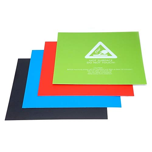 HUANRUOBAIHUO 1pc 220x220mm zwart/blauw/groen/rood Verwarmd Bed Paper sticker for Wanhao Anet A8 A6 3D-printer Sticker Build Blad Plate 3D Printer Parts (Color : Black)
