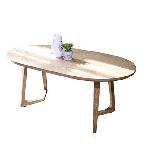 GUONING-L Café Mesa ovalada mesa de centro Mesa auxiliar Sofá Casual Sala Sofá Mesa lateral In Living for Trabajar, Muebles for el Hogar Sofá lado del extremo de la tabla (color: beige, tamaño: 120x50