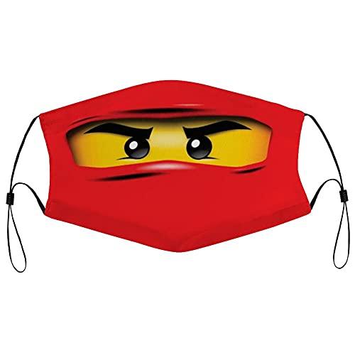 Hirola Ninjago Wiederverwendbare Tuch Gesichtsmaske Waschbare Gesichtsbedeckung Atmungsaktive Sportmaske Verstellbarer Hals Gaiter für Männer Frauen Outdoor