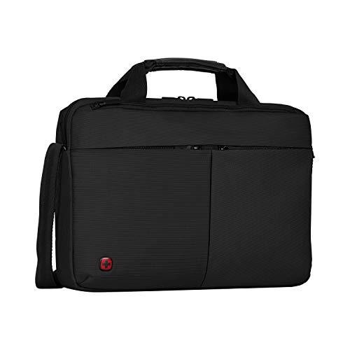 """Wenger 601062 FORMAT 16\"""" Laptop Slimcase, gepolsterte Laptopfach mit iPad/Tablet / eReader Tasche in schwarz {6 Liter}"""