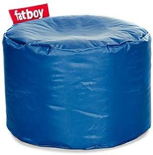 Fatboy® Point Pouf Nylon | Pouf/Repose-Pieds/Guéridon Tendance | Bleu | 35 x ø 50 cm