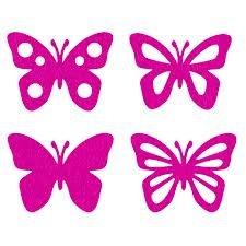 Efco Feutre Papillons Assortis Miniature, Polyester, Fuchsia, 40 x 50 mm, Lot de 8