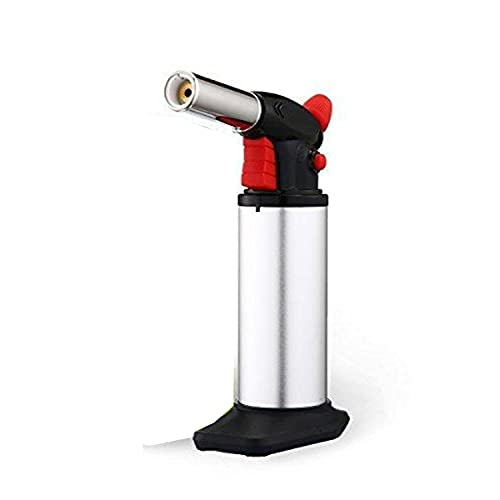 Professional Culinary Torch (Butane) Kitchen Cooking Tool for Searing Food, Meat, Crème Brulee | Adjustable Flame,...