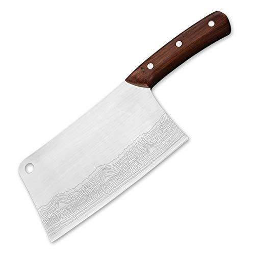 LQCHH Professionelle Küchenmesser Cleaver 7-Zoll-Edelstahl 7CR17 Fleischmesser...