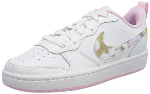Nike Borough Low 2 SE (GS), Walking Shoe, White/Multi-Color-LT Arctic PI, 36.5 EU