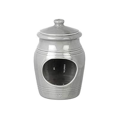 Parlane Ceramic Salt Pig - Kitchen Rock Salt Pepper Seasoning Cellar Jar - 15cm - Grey by Parlane