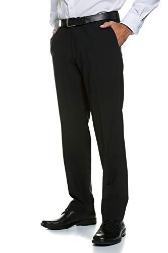 JP 1880 Herren große Größen Menswear L-8XL Business-Hose, Flatfront Hose Zeus, Schnurwoll-Qualität, Knitterfrei, Pflegeleicht schwarz 32 705531 10-32