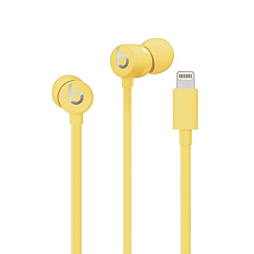 Urbeats3 Wired Earphones With Lightning Connector - Tangle Free Cable, Magnetic Earbuds, Built In Mic And Controls - Yellow