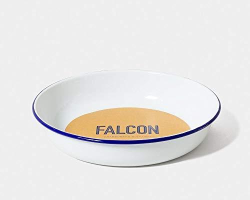 Genuine Falcon Enamel Prep Set Classic White with Blue Rim