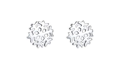 Pendientes de tuerca Heather Needham Silver. Pendientes de plata de ley con diseño de copo de nieve, tamaño: 7mm, en caja 5103/b41xmas.