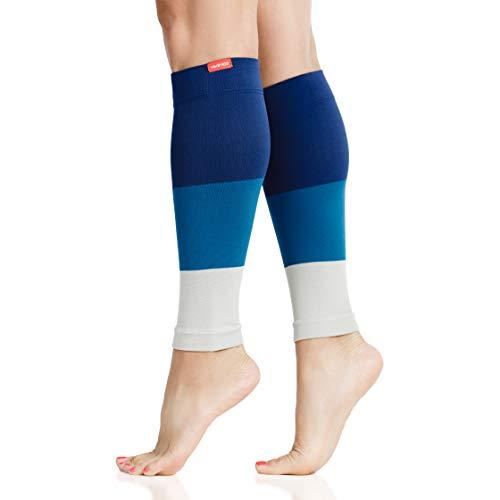 VIM & VIGR 15-20 mmHg Mangas de compresión graduadas para piernas para mujeres y hombres, 1, Ocean