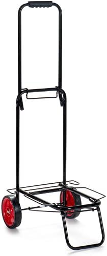 TIENDA EURASIA® Carro Portasillas de Playa - Carro de Playa Plegable con Ruedas - Estructura Metalica Incluye Goma Elastica (MAX 30 KG - 42 x 34 x 95 cm)