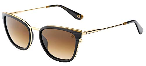 Etnia Barcelona Sonnenbrillen MADELEIN BLACK GOLD/LIGHT BROWN SHADED 54/19/142 Unisex