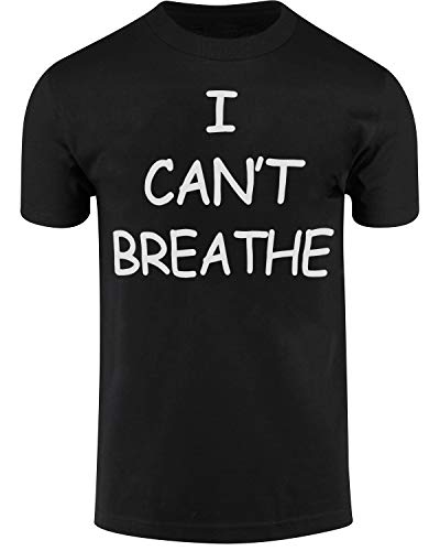 I Cant Breathe Mens Shirts Protest Tees END Police Brutality Now (Black, S)