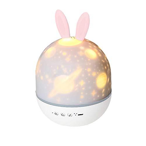 Eternitry Colorido giratorio lámpara de proyección música teledirigido 360 ° rotación noche luz para el sueño de los niños