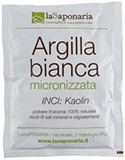 LA SAPONARIA - White Clay (Kaolin) - Ideal for Skin and Hair Treatments - Ideal for Sensitive and Irritated Skin - Ideal as Mask and Wrap - Nourishes and refines the skin - Vegan - 100 g