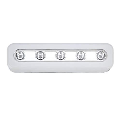 DDyna Luz de Pared inalámbrica de súper Brillo 5 LED Armario de Armario Luz de Grifo autoadhesiva Lámpara de luz táctil de Emergencia de Noche para el hogar - Blanco