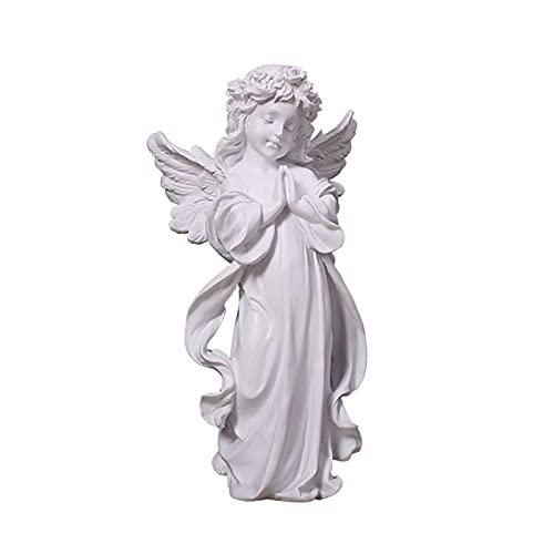 Bellissimo ornamento di cherubino da giardino con angelo in preghiera - Statuetta in resina con ali...