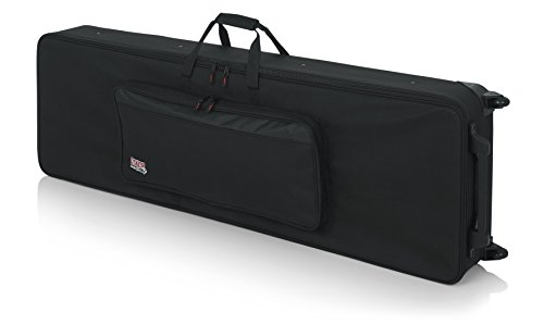 Gator Cases Lightweight Rolling Keyboard Case for 88 Note Keyboards and Electric Pianos (GK-88)