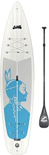 Indiana SUP 11'6 Touring Aufblasbares SUP Board Pack Premium with 3-Piece Carbon Paddle Damen 2018 Schwimmbrett