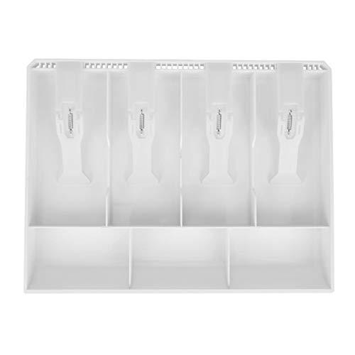 Inserto de caja registradora, conveniente reemplazo de inserto de caja registradora resistente, duradero, tienda de supermercado liviana para cafetería y restaurante(white)