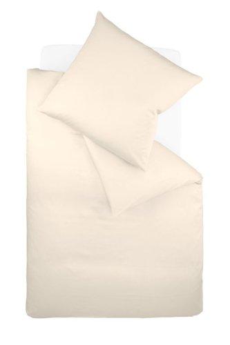 fleuresse Jersey Interlock Uni Bettwäsche, crème, 135 x 200 cm