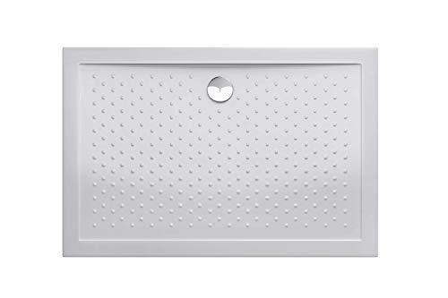 Durovin Bathrooms 1000 x 700 x 40mm Shower Tray Anti Slip Surface - Acrylic Material -Various Sizes - Rectangular Shape