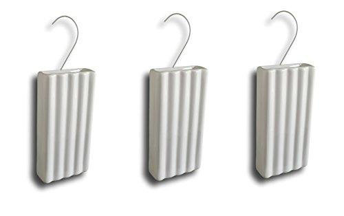 Keramische luchtbevochtiger verdamper waterverdamper voor verwarming radiator vlakke verdamper wit gegroefd met hanger (hoeveelheid: 3)