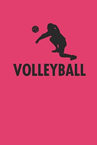 VOLLEYBALL: Notizbuch für Volleyball Spieler karo Notebook Journal 6x9 kariert squared