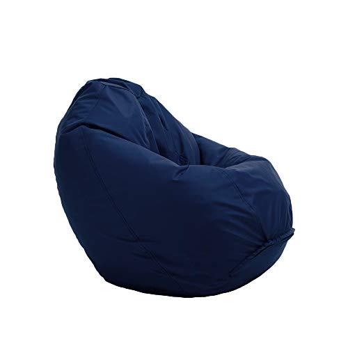 Bruni Sitzsack Classico M in Blaugrau – Sitzsack mit Innensack zum Zocken & Lesen, Abnehmbarer Bezug, lebensmittelechte EPS-Perlen als Bean-Bag-Füllung, aus Deutschland