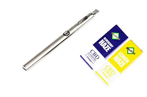 Weedness CBD Vaporizer + CBD E-Liquid Blueberry + Lemon Haze - Öl CBD Pen Bio Hanföl Starterset E-Zigarette Verdampfer Dampf Set