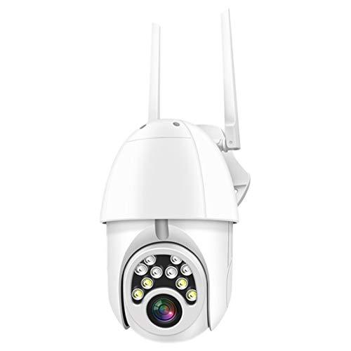 Andifany CáMara de Seguridad, MonitorizacióN Remota de PíXeles 1080P Hd 200W, CáMara de Seguridad EsféRica con Intercomunicador Wifi (Enchufe de la UE)