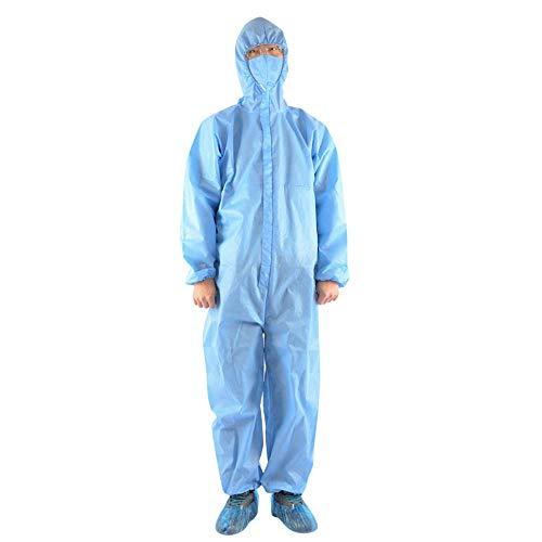 Isolement uniforme Protection Capuche Vêtements de protection Anti-Crachats Anti-poussière Costume Étanche Protection Anti Bactéries Extérieur-L