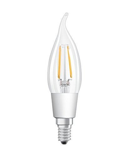 Osram LED SuperStar Classic BA Lampe, in Kerzenform mit E14-Sockel, dimmbar, Ersetzt 40 Watt, Filamentstil Klar, Warmweiß - 2700 Kelvin, 6er-Pack