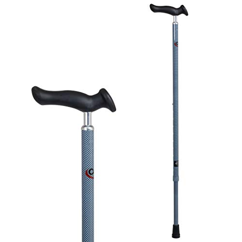 Carex Health Brands Comfort Walking Cane with an Ergonomic Extra Comfortable Grip, Light Gray
