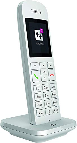 Telekom Festnetztelefon Speedphone 12 in Weiß schnurlos | Zur Nutzung an aktuellen Routern mit integrierter DECT-CAT-iq Schnittstelle (z.B. Speedport, Fritzbox), 5 cm Farbdisplay