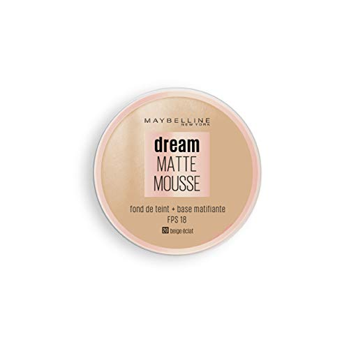 Maybelline New York Dream Mat Mousse - Fond de teint mousse - 20 beige éclat - 18ml