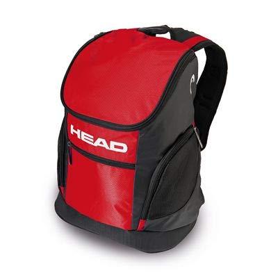 HEAD Trainingsrucksack 33 Unisex Rucksack, Unisex_Erwachsene, Trainingsrucksack 33, Schwarz Rot, Einheitsgröße