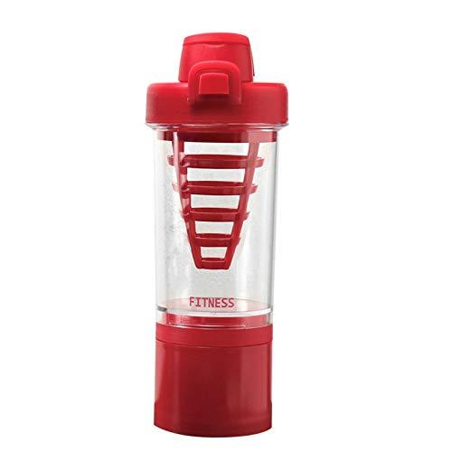 Botella de la coctelera/protección del medio ambiente deportes plástico taza de agua/cerradura portátil a prueba de fugas jugo batido fitness agitación proteína polvo coctelera taza